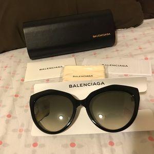 Balenciaga Black Paris Sunglasses